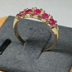 3/4 CTW Natural Ruby 14KT Solid Gold Ring 7
